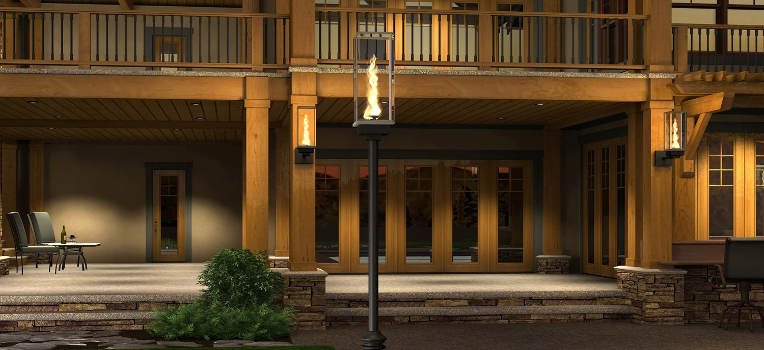 Outdoor Gas Lanterns Within Best And Newest Tempest Torch – Outdoor Gas Lamps And Lighting (View 3 of 20)
