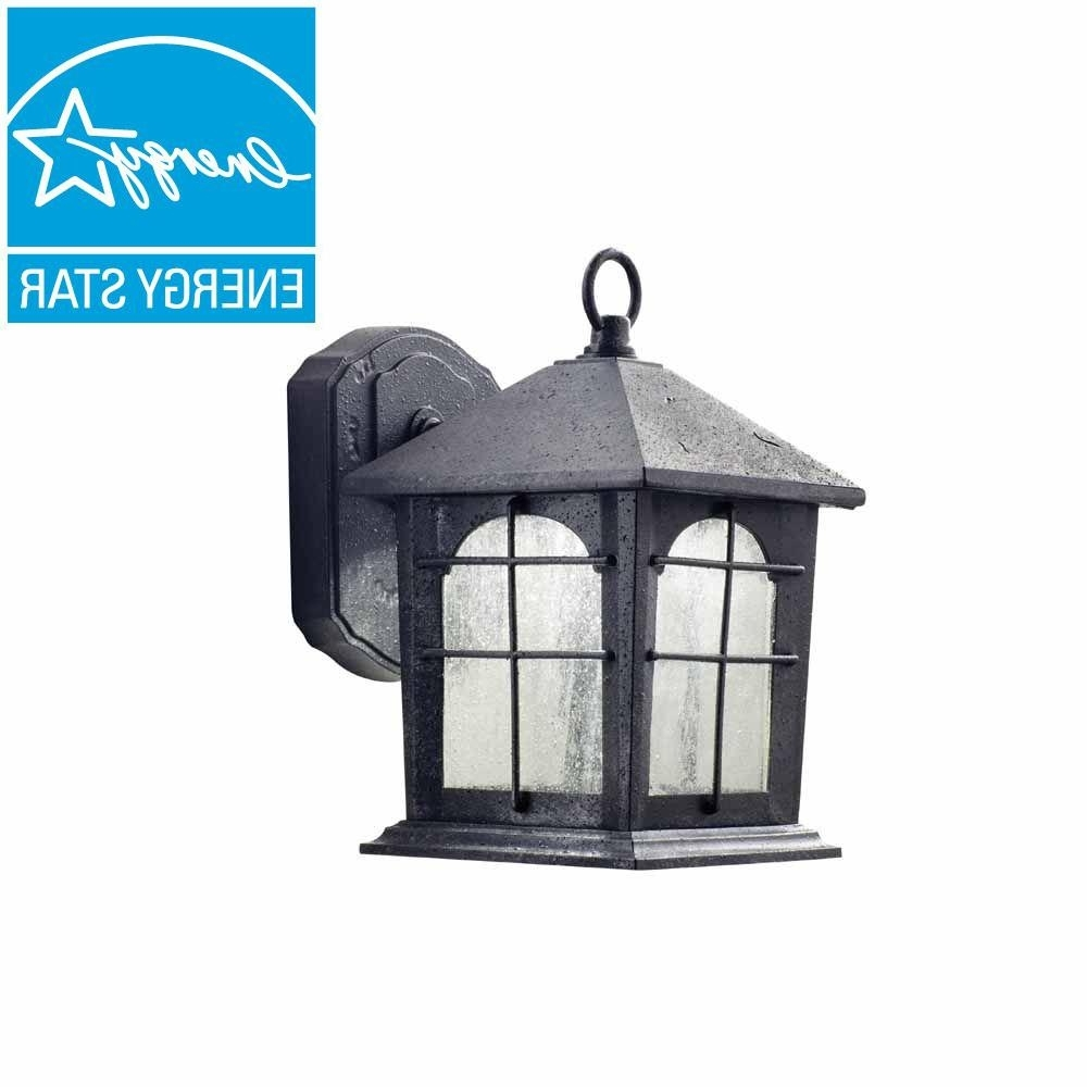 Outdoor Gazebo Lanterns For Newest Home Decorators Collection Aged Iron Outdoor Led Wall Lantern (View 7 of 20)