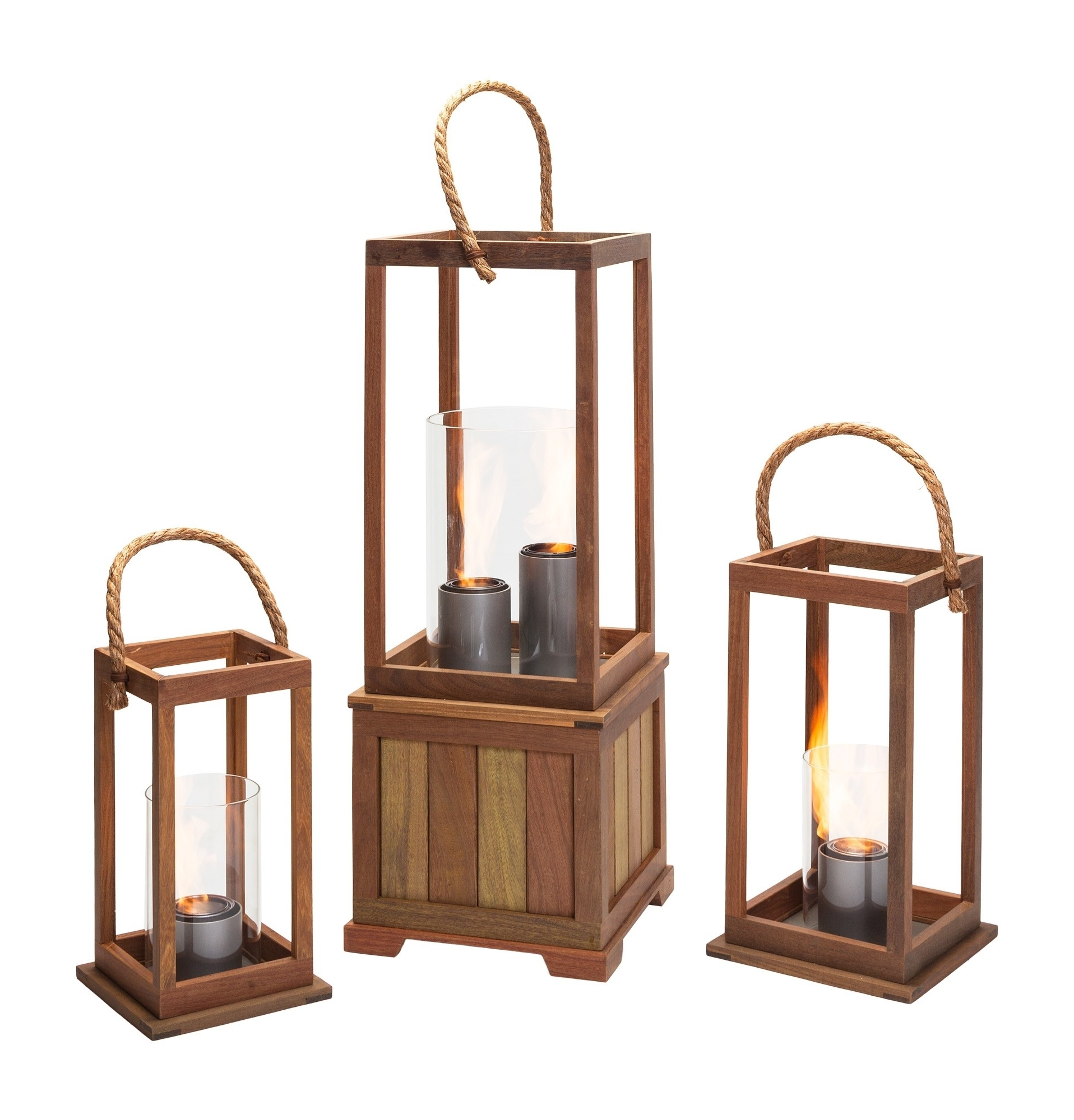 Outdoor Gel Lanterns Within Most Recent Sonoma 17 Inch Outdoor Lantern In Ipe Woodnorthcape Fire (View 5 of 20)