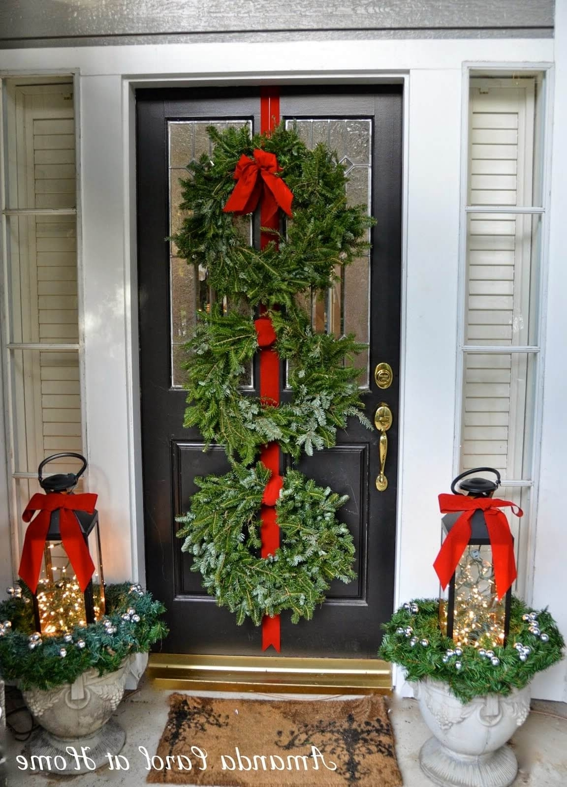 Outdoor Holiday Lanterns Regarding Best And Newest 35 Best Outdoor Holiday Planter Ideas And Designs For (View 3 of 20)