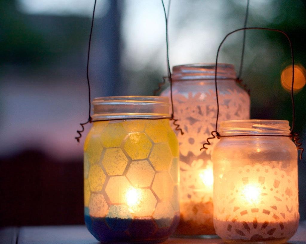 Outdoor Jar Lanterns Regarding Well Known Diy Summer Patio Jar Lanterns (View 13 of 20)