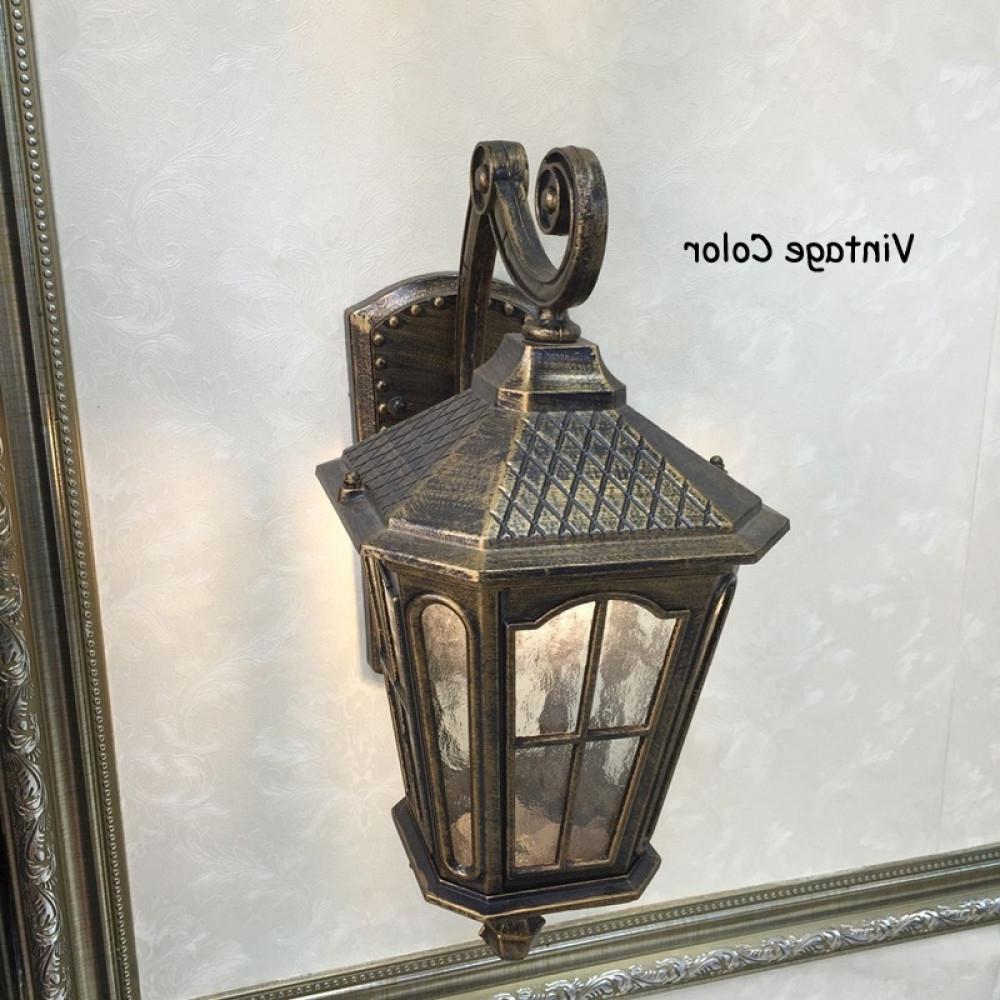 Outdoor Kerosene Lanterns Pertaining To Preferred Antique Rustic Iron Waterproof Outdoor Wall Lamp Vintage Kerosene (View 10 of 20)