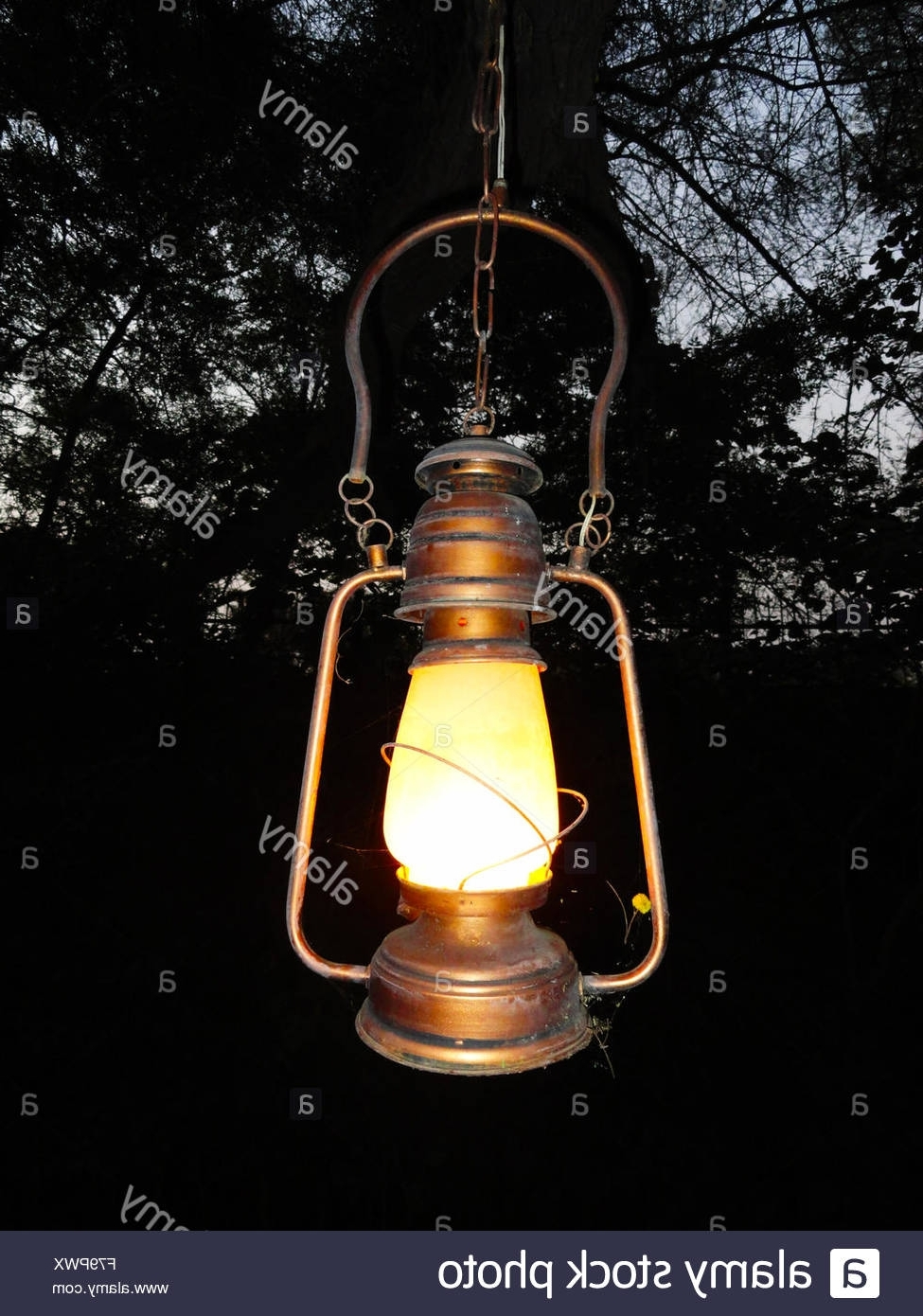 Outdoor Kerosene Lanterns Throughout Popular Old Antique Oil Lantern Hanging Stock Photos & Old Antique Oil (View 13 of 20)