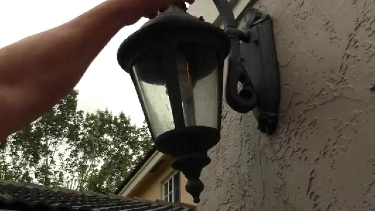Outdoor Lamp Lanterns Throughout Well Known How To Change An Outdoor Porch Lantern Sconce Light Bulb–Simple Diy (View 16 of 20)