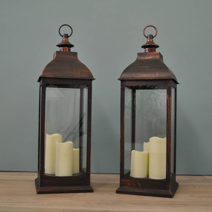 Outdoor Lamp Timer Best Of Two Firenze Battery Operated Candle With Regard To Preferred Outdoor Lanterns With Battery Candles (View 11 of 20)