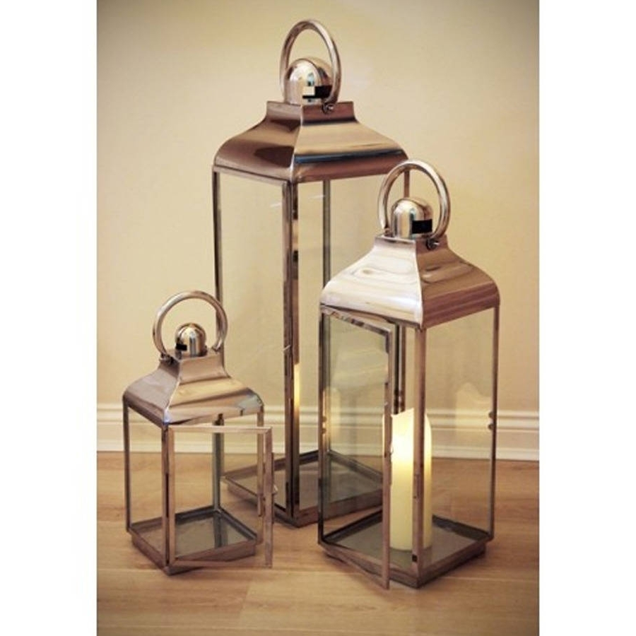 Outdoor Lanterns And Votives Pertaining To Most Recent Stainless Steel Outdoor Candle Lanterns – Image Antique And Candle (View 12 of 20)