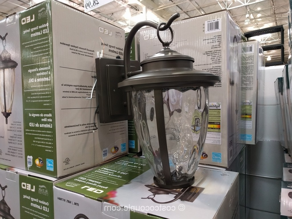 Outdoor Lanterns At Costco Intended For Widely Used Altair Lighting Outdoor Led Lantern (View 11 of 20)
