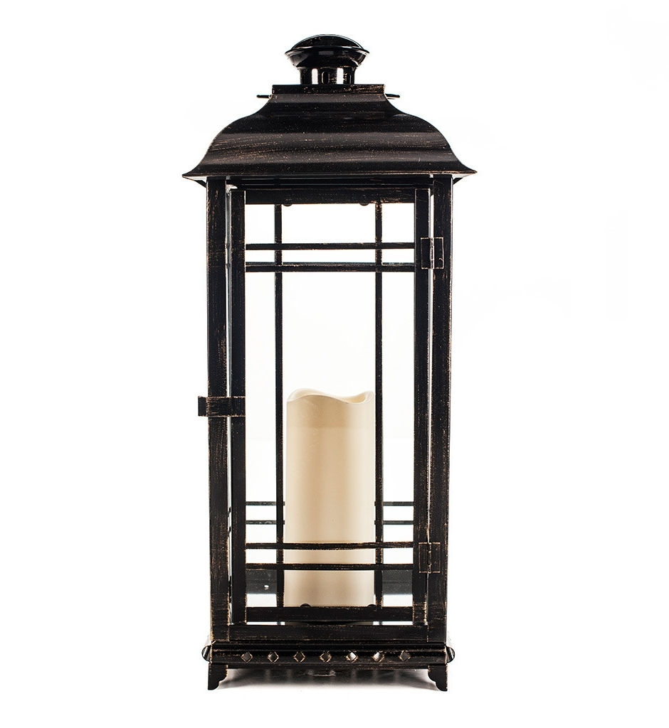 Outdoor Lanterns At Pottery Barn Inside Newest Lighting: Brighten Up Your Space With Stunning Candle Lanterns (View 10 of 20)