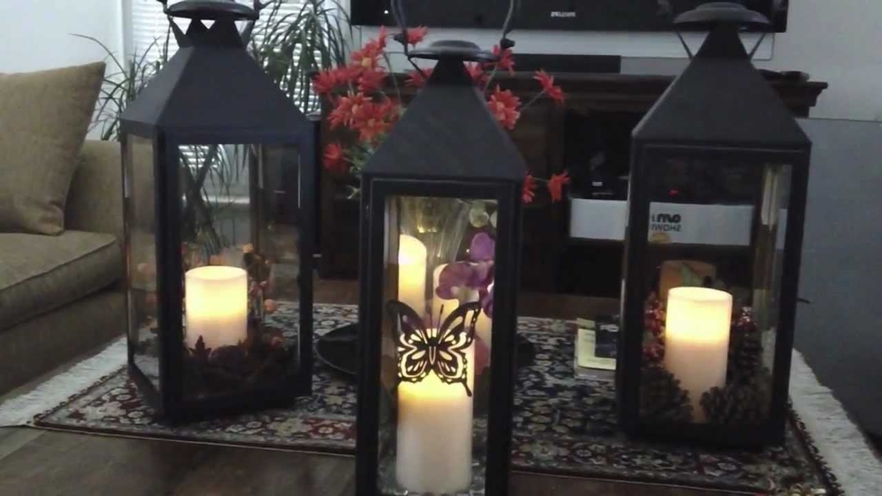 Outdoor Lanterns Decors In Latest Decorating With Lanterns For Every Season – Youtube (View 19 of 20)