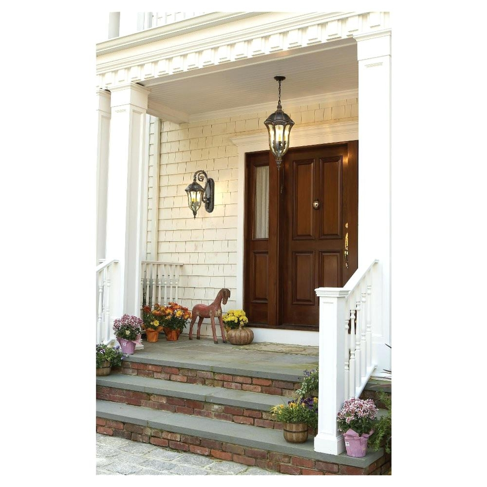 Outdoor Lanterns For Front Door Pertaining To 2019 Front Doors : Front Door Inspirations Outdoor Front Porch Ceiling (View 11 of 20)
