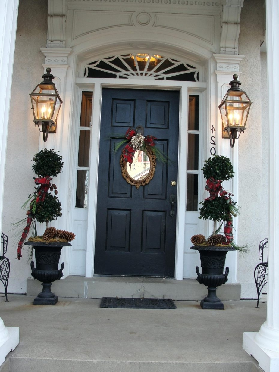 Outdoor Lanterns For Front Door With Popular Front Doors : Entry Lights Front Door Exterior Exterior Lighting (View 12 of 20)