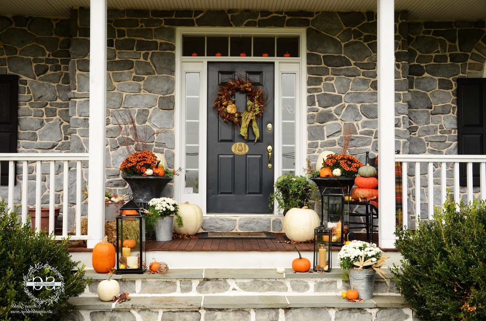 Outdoor Lanterns For Front Porch Intended For Most Current Fall On The Front Porch – Stonegable (View 12 of 20)