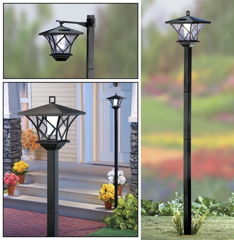 Outdoor Lanterns For Pillars Pertaining To Famous Outdoor Lights On Pillars Luxury 5 Ft Tall Solar Powered 2 In  (View 12 of 20)