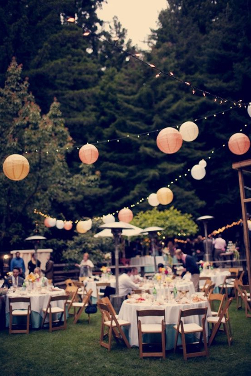 Outdoor Lanterns For Wedding Throughout Most Up To Date Lighting: Outdoor Wedding Reception With Lanterns – 20 Beautiful (View 15 of 20)