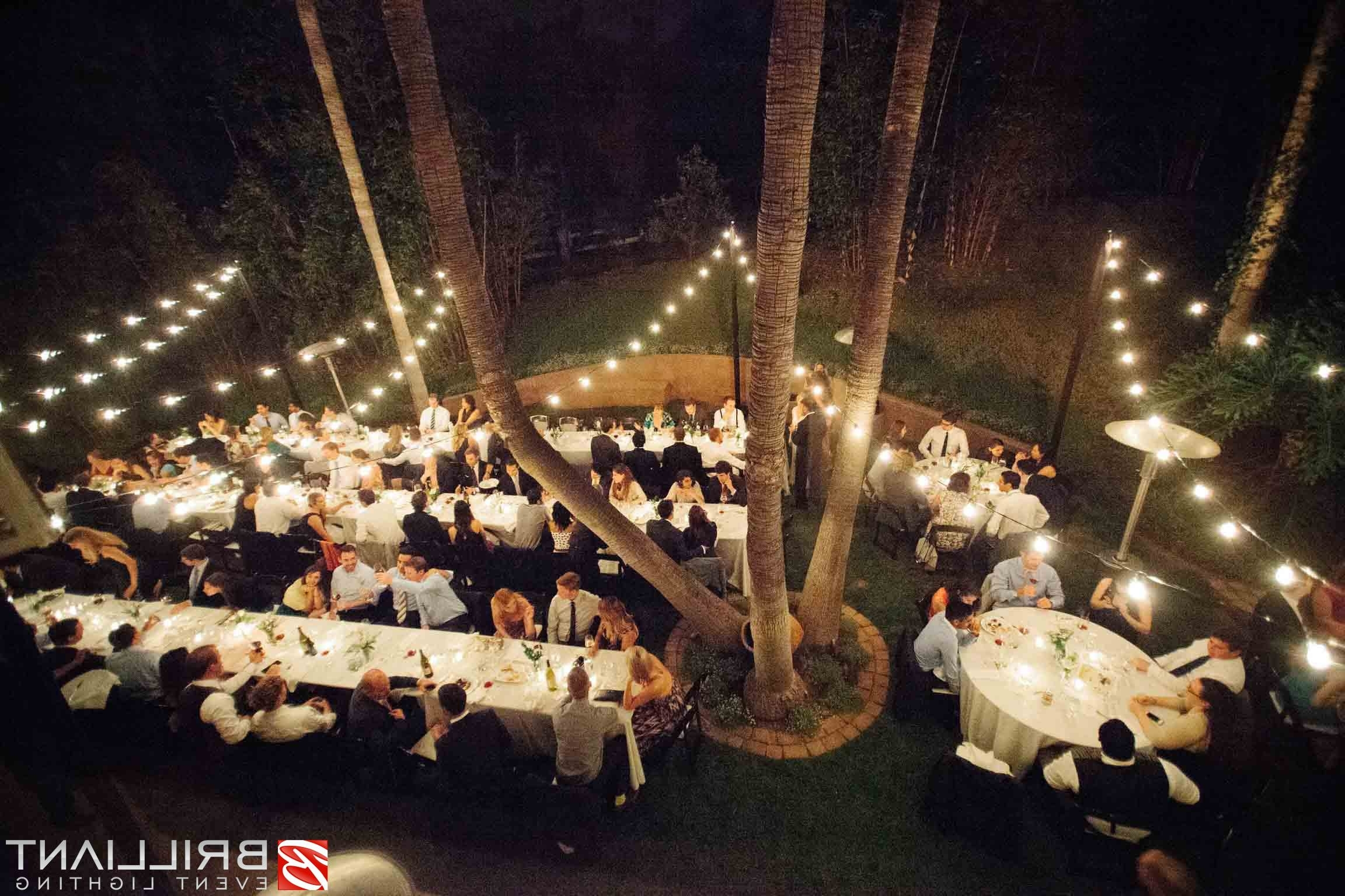 Outdoor Lanterns For Wedding Within Favorite Market Lights And Vintage Edison String Lights At Outdoor Wedding (View 13 of 20)