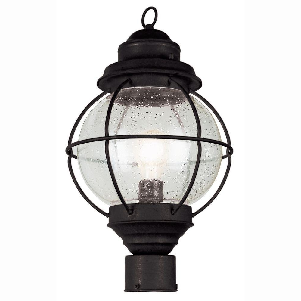 Outdoor Lanterns On Post In Favorite Bel Air Lighting Lighthouse 1 Light Outdoor Black Post Top Lantern (View 13 of 20)