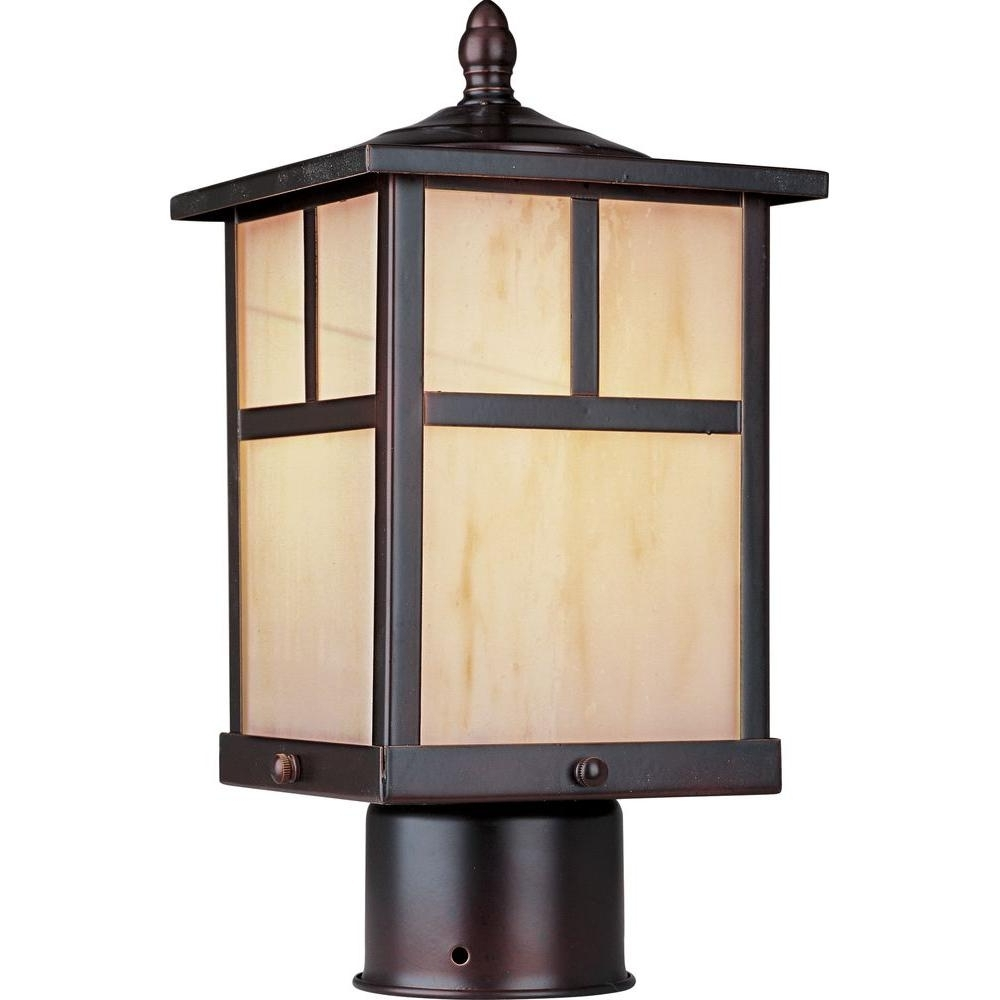 Outdoor Lanterns On Post With Regard To Widely Used Maxim Lighting Coldwater 1 Light Burnished Outdoor Pole/post Mount (View 15 of 20)