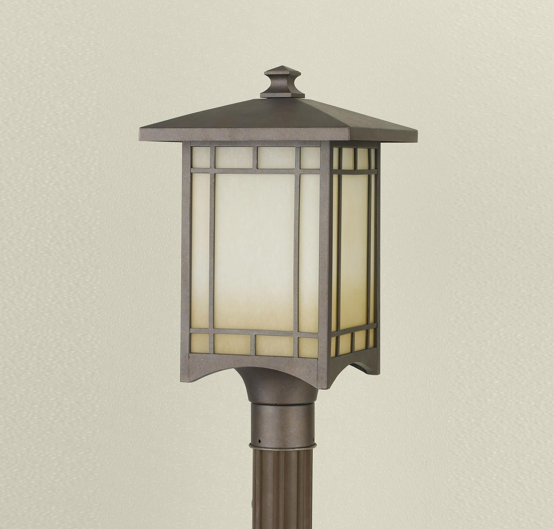 Outdoor Lanterns On Post Within 2018 Feiss August Moon Collection Outdoor Lantern – Post (View 16 of 20)