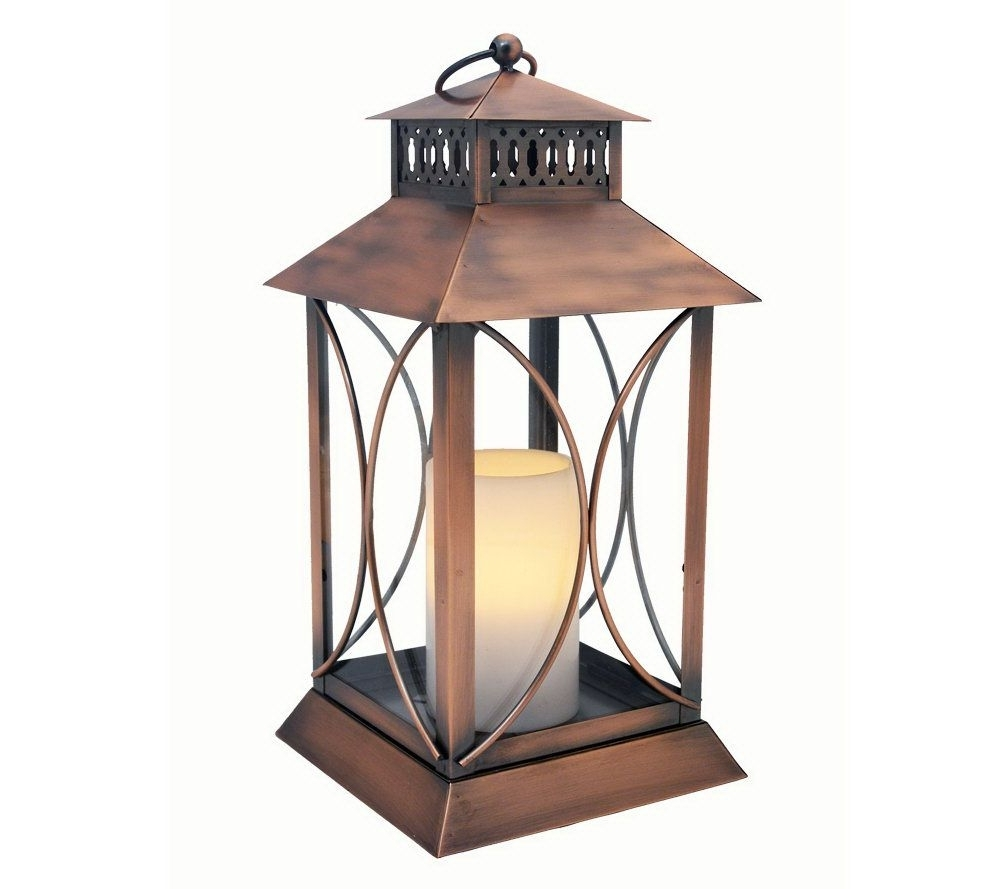 Outdoor Lanterns With Battery Candles In 2018 Tall Iron Moroccan Standing Metal Candle Lantern Stand Best Decorcom (View 13 of 20)