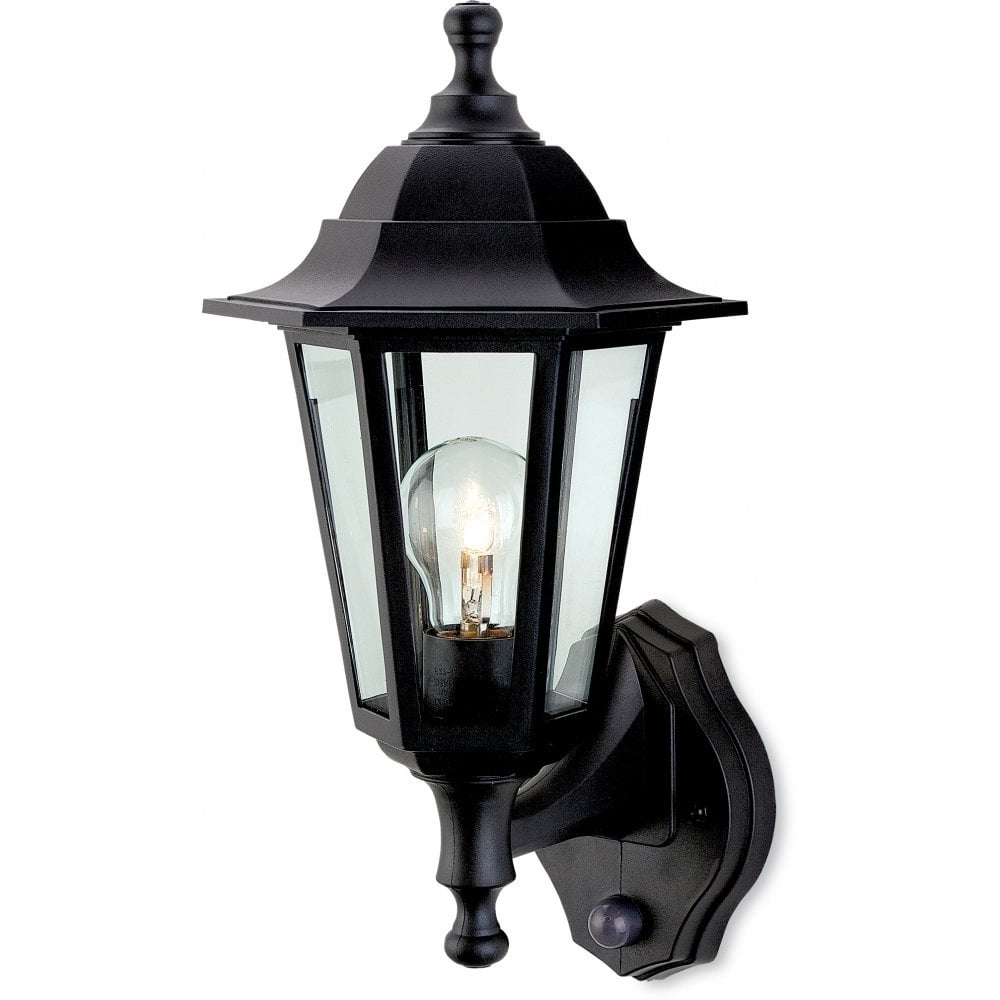 Outdoor Lanterns With Pir Regarding Current Firstlight Malmo Single Light Outdoor Wall Lantern In Black Finish (View 16 of 20)