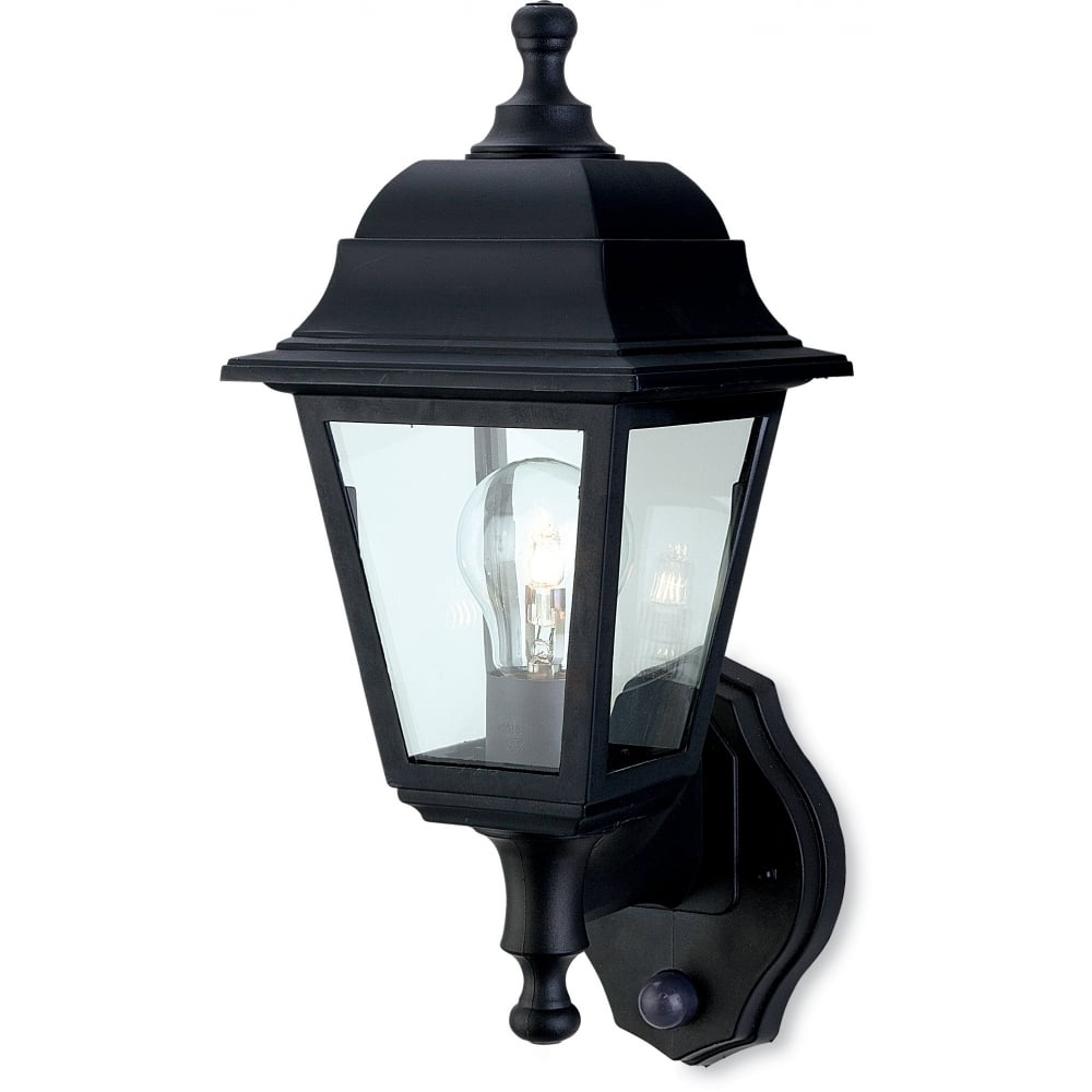 Outdoor Lanterns With Pir With Regard To Popular Firstlight 8400Bk Oslo Lantern – Uplight With Pir (Gallery 18 of 20)