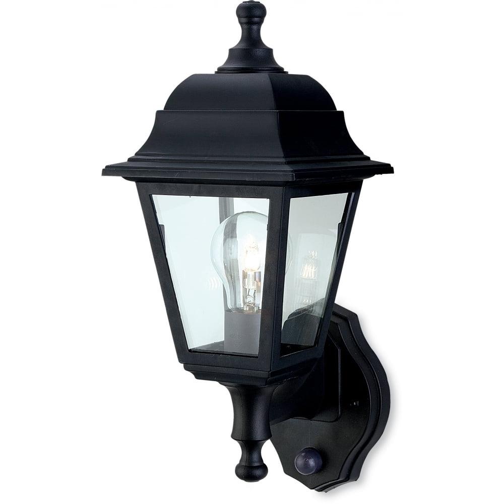Outdoor Lanterns With Pir With Regard To Popular Firstlight 8400Bk Oslo Lantern – Uplight With Pir (View 18 of 20)
