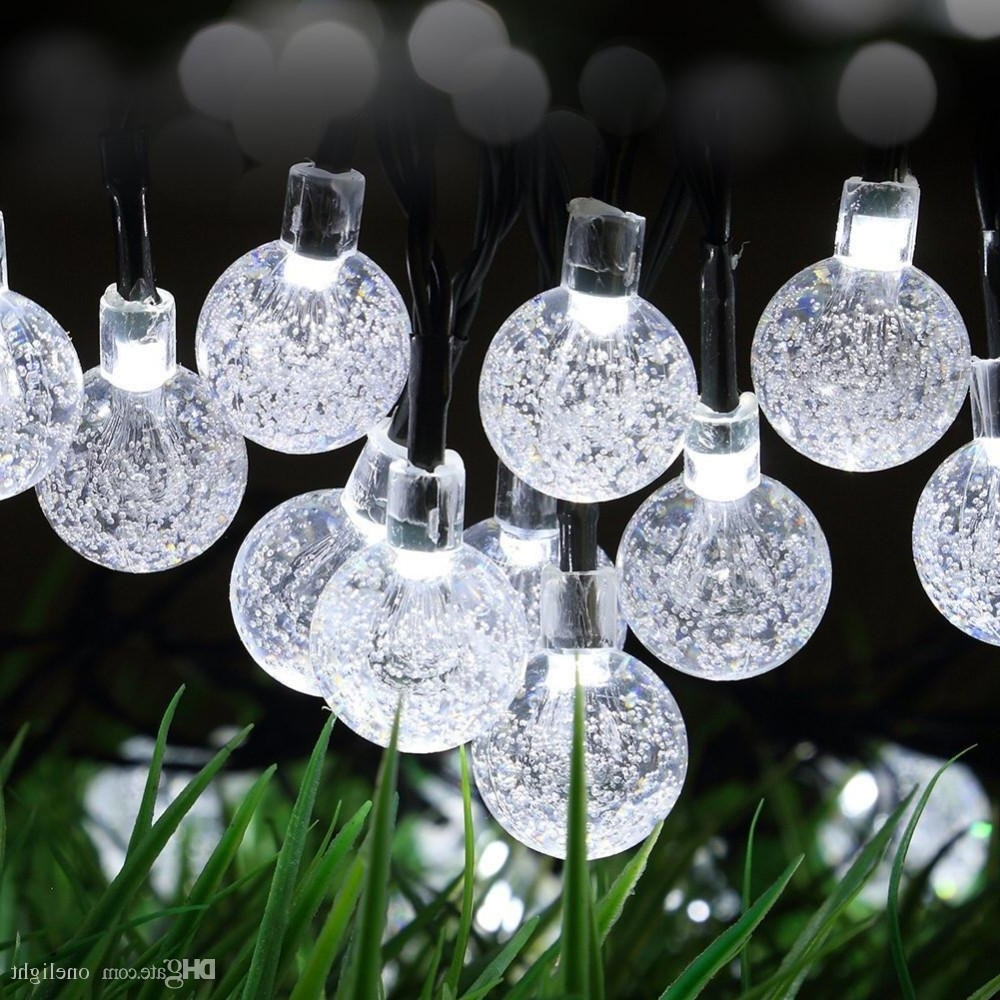 Outdoor Lanterns With Remote Control Intended For Popular Remote Control 30 Led Outdoor String Lights Bubble Beads 8 Modes (Gallery 20 of 20)