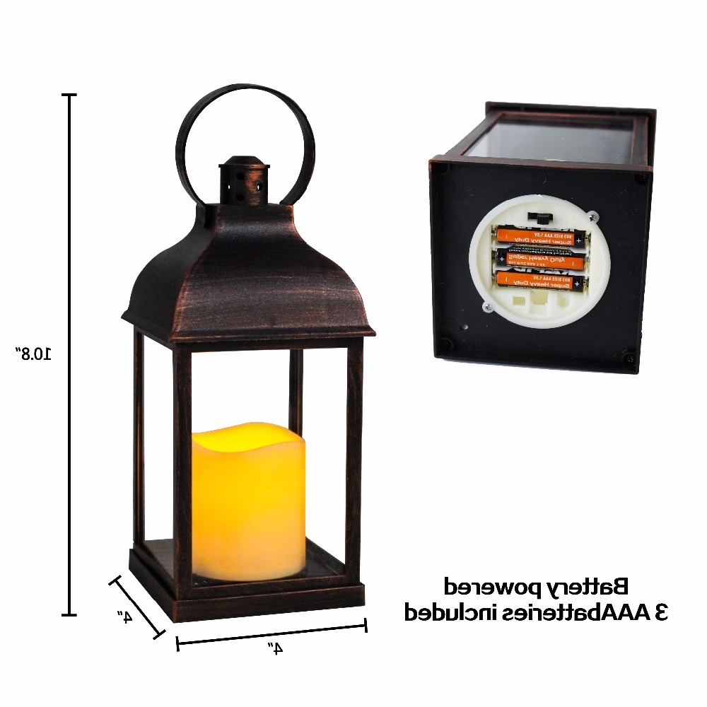 Outdoor Lanterns With Timers Inside Best And Newest Wralwayslx Decorative Lanterns With Flameless Candles With Timer (View 8 of 20)