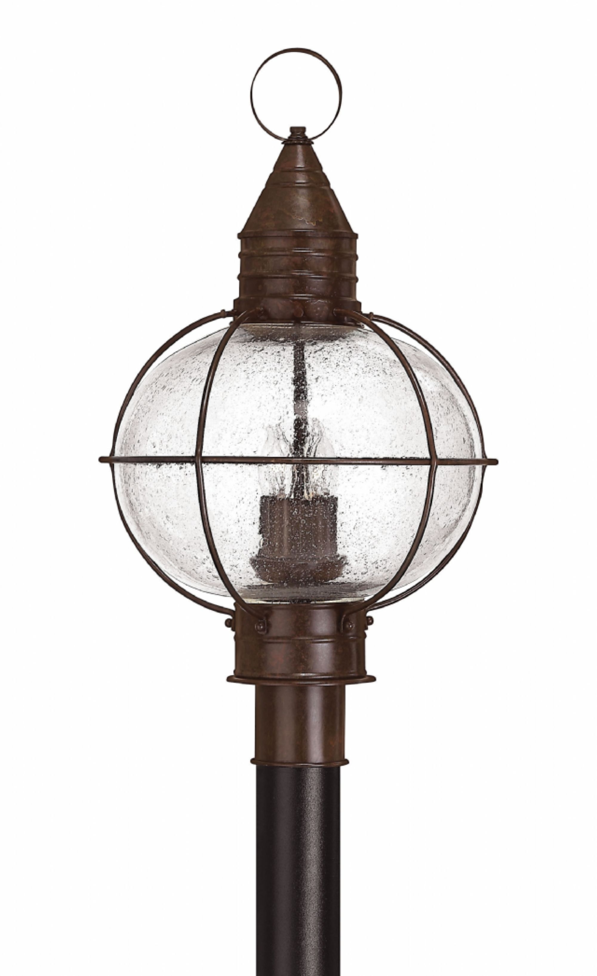 Outdoor Lighting Onion Lanterns In Famous Sienna Bronze Cape Cod > Hospitality Post & Pier Mounts (View 11 of 20)
