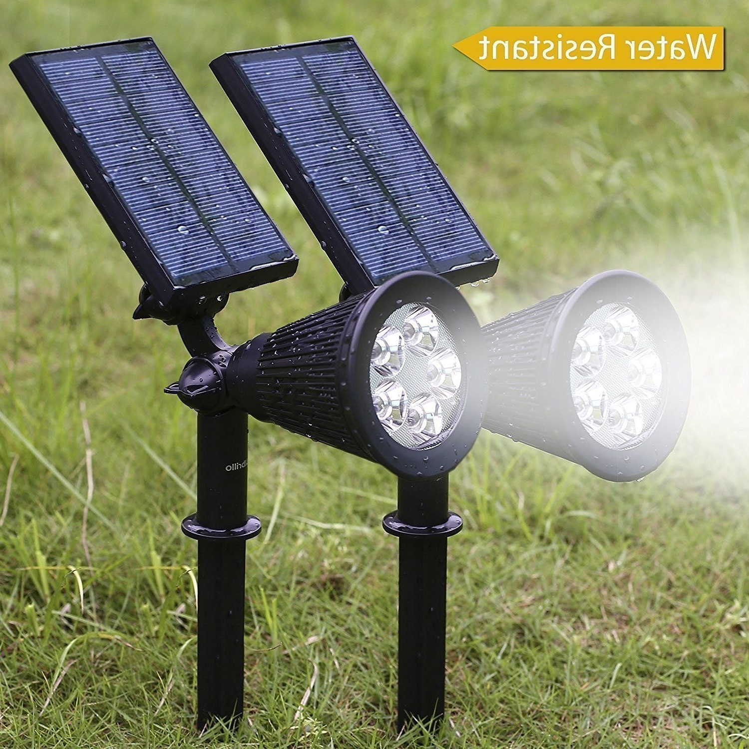 Outdoor Lights Amazon Best Of Albrillo 5 Led Solar Powered Spotlight With Regard To Newest Outdoor Lanterns At Amazon (View 11 of 20)