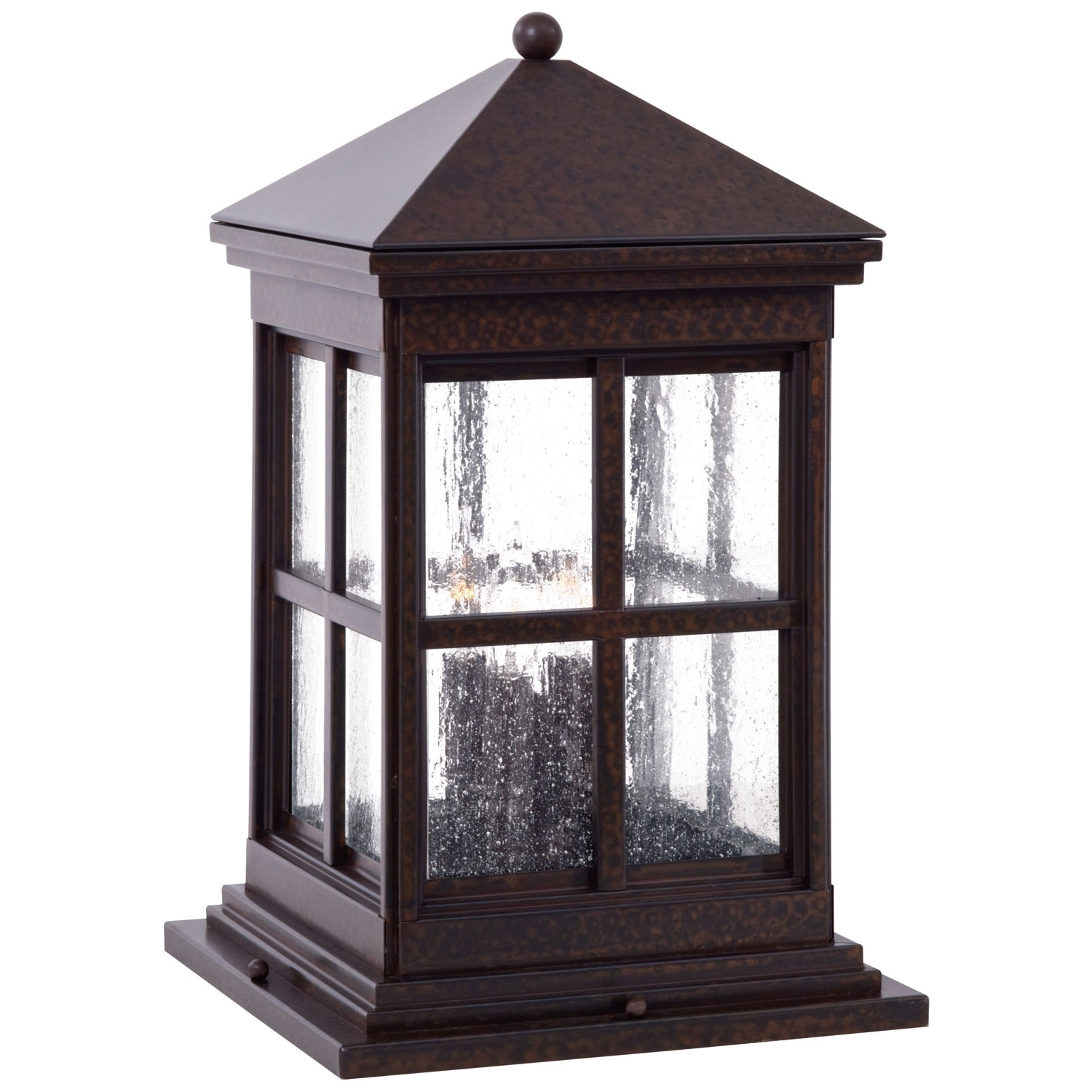 Outdoor Low Voltage Lanterns With Famous Minka Lavery Berkeley Column Mount Exterior Light 8567  (View 11 of 20)