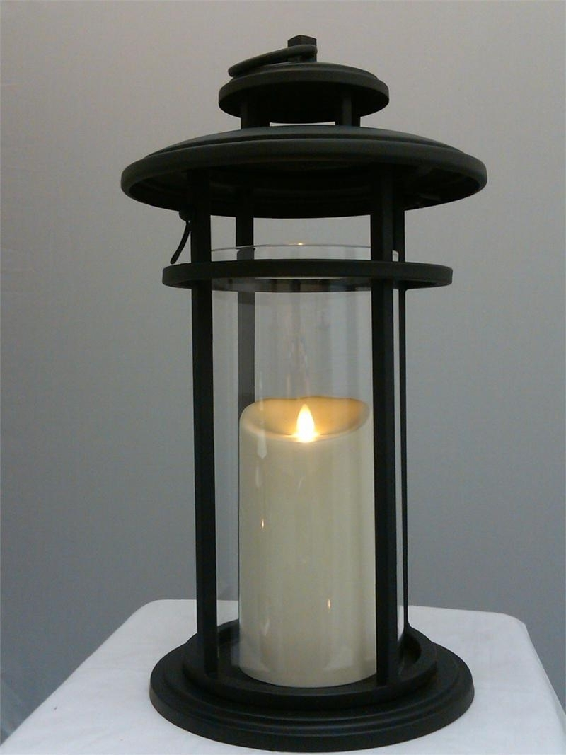Outdoor Luminara Lanterns For Famous Luminara Flameless Candle Battery Powered Outdoor Black Cylinder (View 10 of 20)