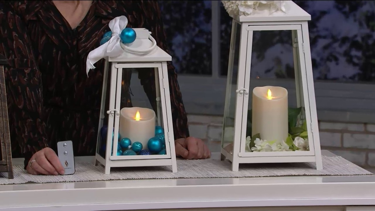 Outdoor Luminara Lanterns Throughout Most Popular Luminara Hampton Indoor Outdoor Lantern With Flameless Candle (View 8 of 20)