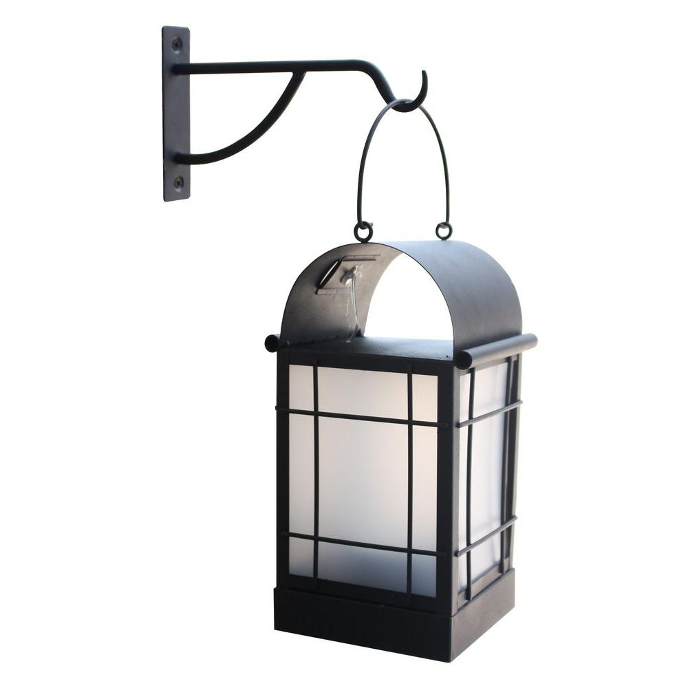 Outdoor Metal Lanterns For Candles In Current Moonrays Arched 1 Light Black Outdoor Integrated Led Wall Mount (View 4 of 20)