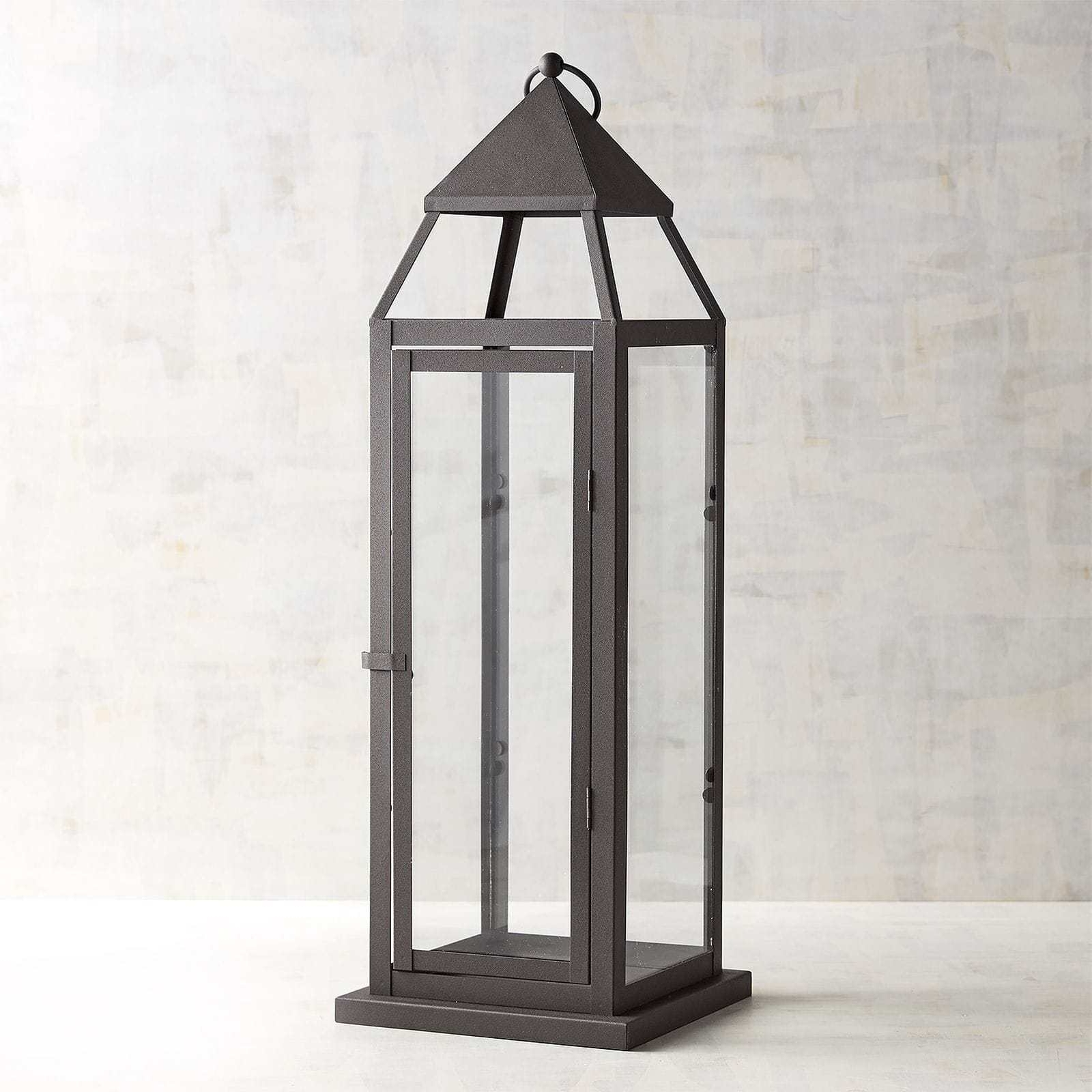 Outdoor Metal Lanterns For Candles Pertaining To Trendy Examplary Landen Large Black Metal Lantern Pier Imports Candle (Gallery 14 of 20)