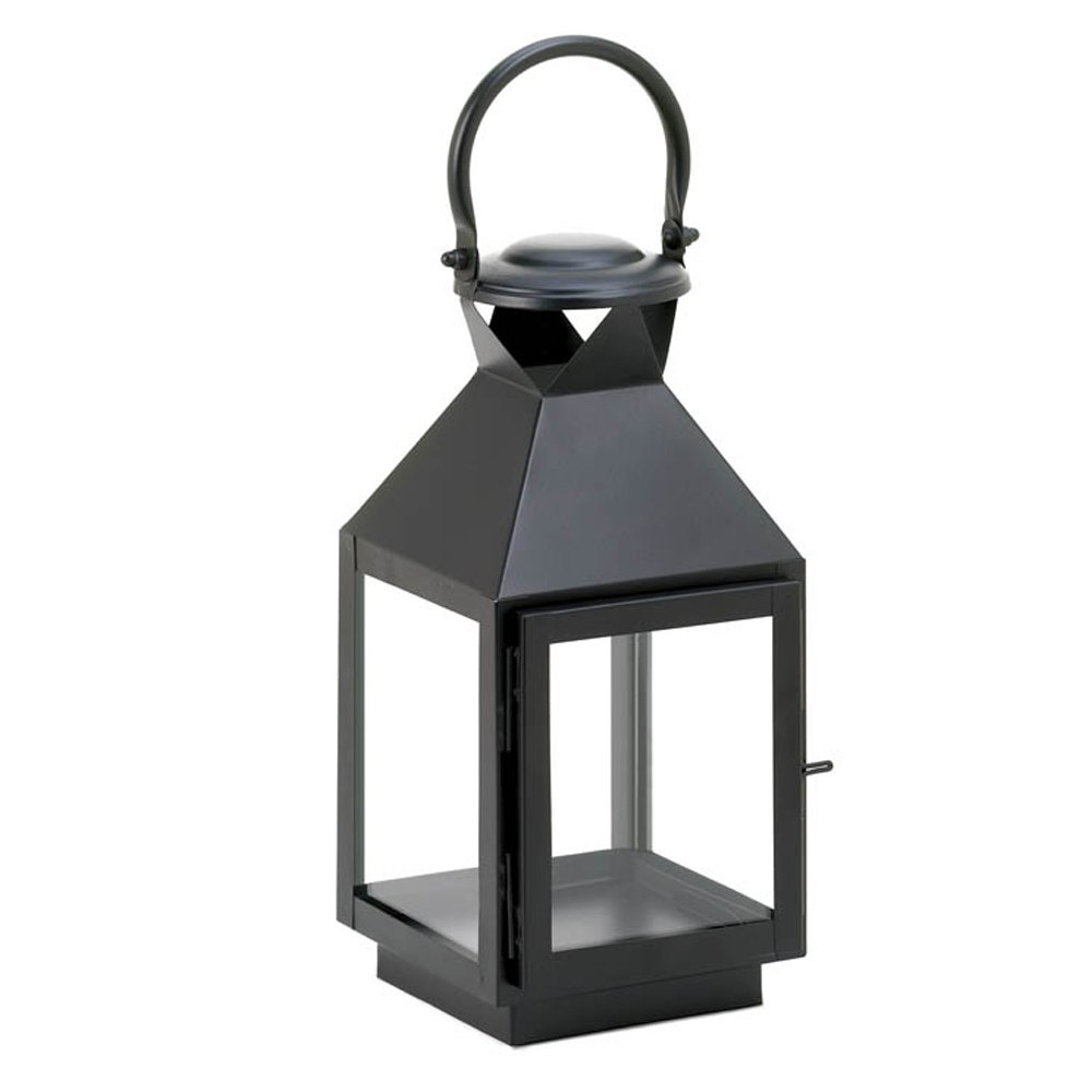 Outdoor Metal Lanterns For Candles With Popular Decorative Lanterns For Candles, Small Patio Rustic Black Candle (View 13 of 20)