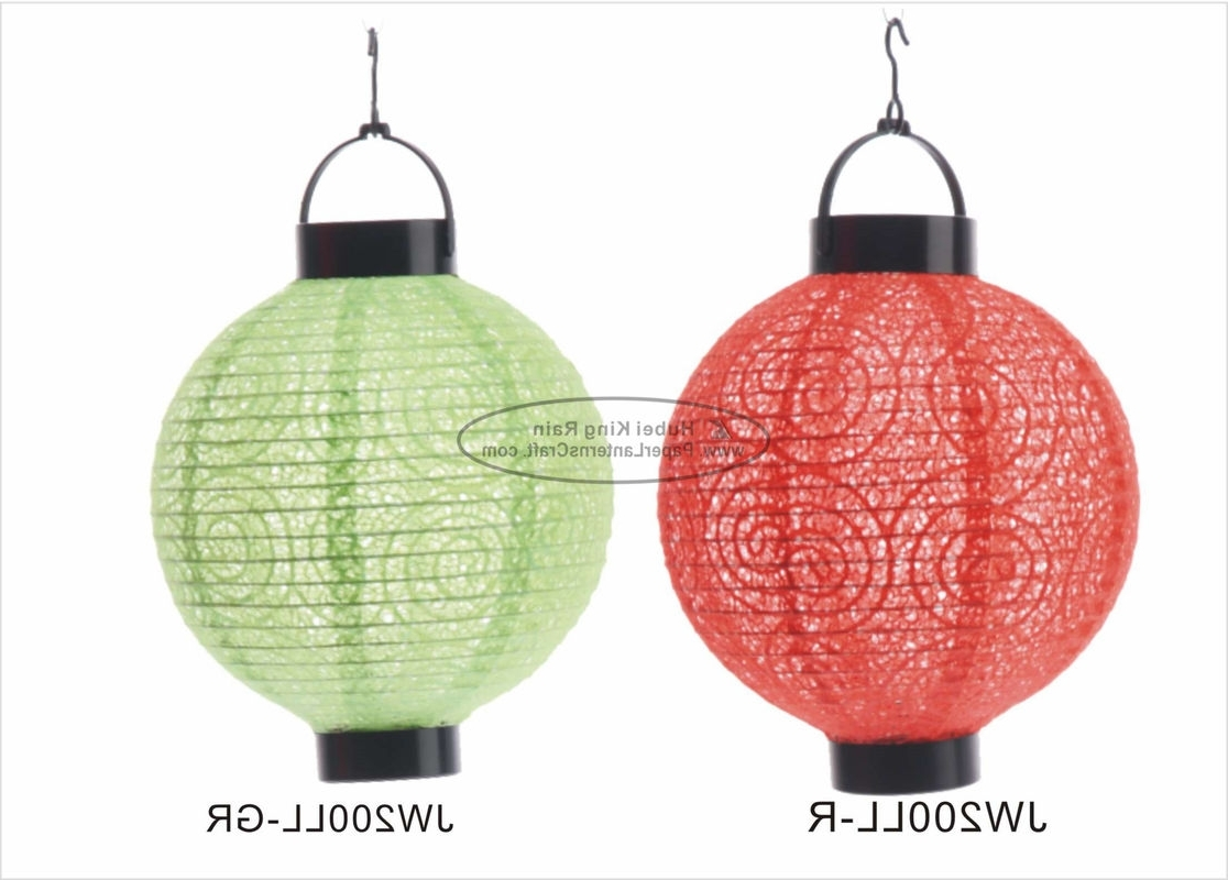 Outdoor Orange Lanterns Pertaining To Best And Newest Eyelet Outdoor Paper Lantern Lights , Battery Operated Paper (View 7 of 20)