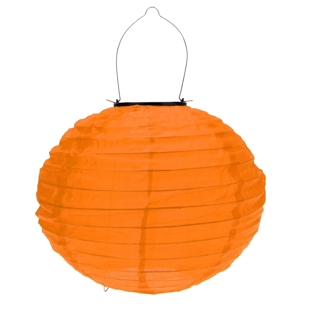 Outdoor Orange Lanterns With Regard To Trendy Best 10 Inch Orange Solar Led Chinese Lantern For Garden Outdoor (Gallery 1 of 20)