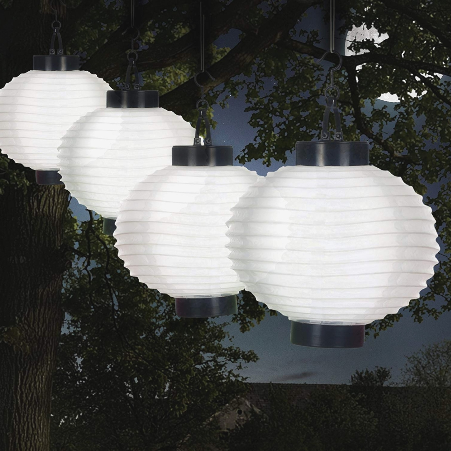 Outdoor Paper Lanterns For Patio Pertaining To Popular Amazon: Pure Garden 40 40 W Outdoor Solar Chinese Led Lanterns (View 7 of 20)