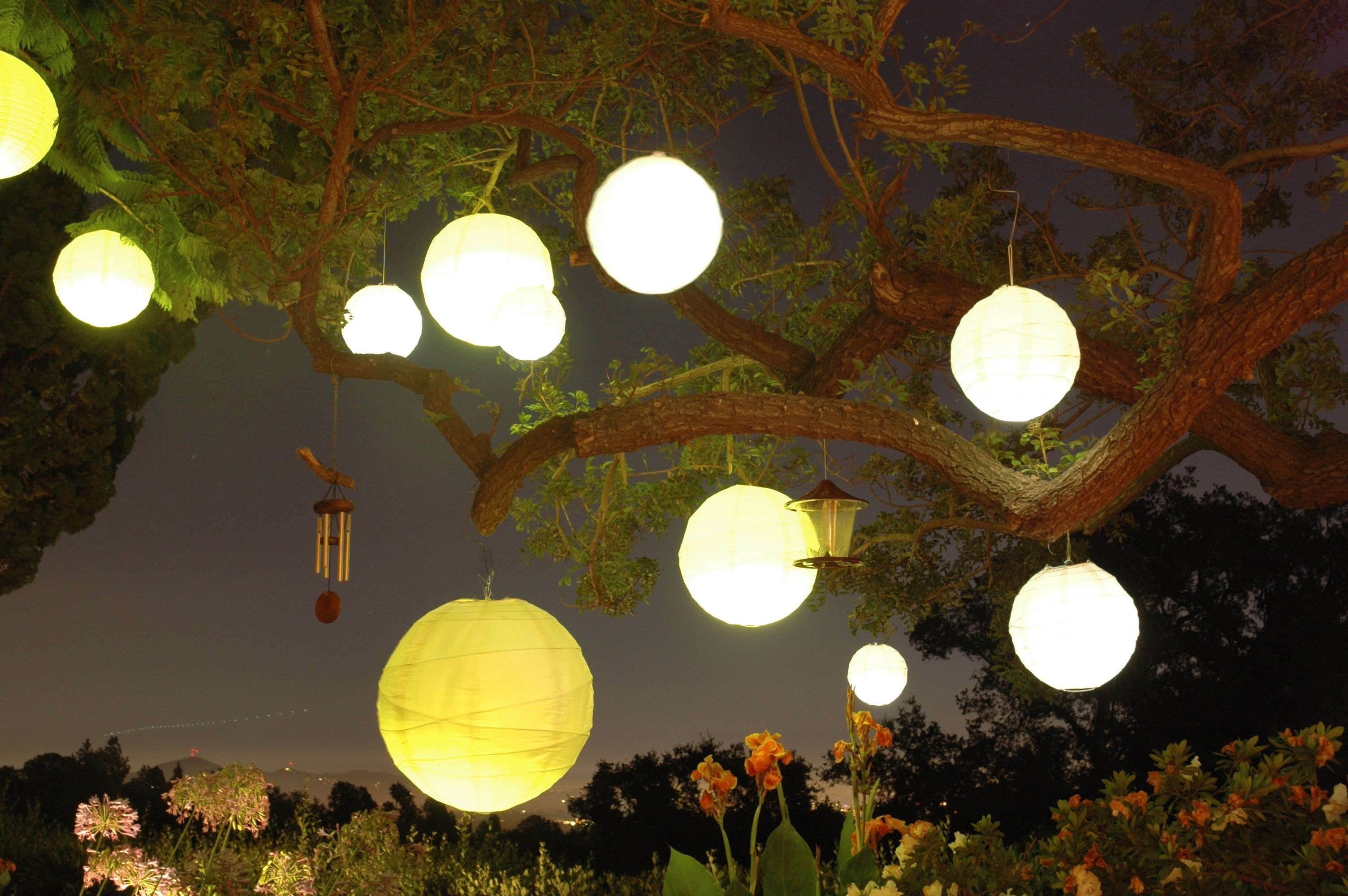 Outdoor Paper Lanterns With Regard To Current Divine Outdoor Lighting Via Paper Lanterns (Gallery 11 of 20)