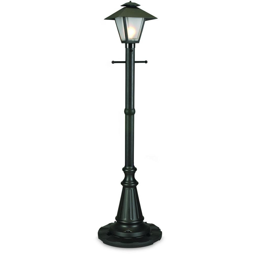 Outdoor Patio Electric Lanterns Within Well Known Patio Living Concepts Cape Cod Black Outdoor Plug In Post Lantern (View 12 of 20)