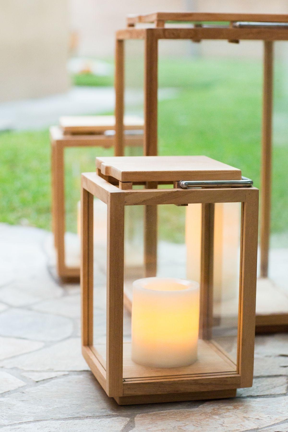 Outdoor Patio Teak Lanterns // Outdoor Lighting // Patio // Outdoor With Regard To Most Popular Outdoor Teak Lanterns (View 6 of 20)