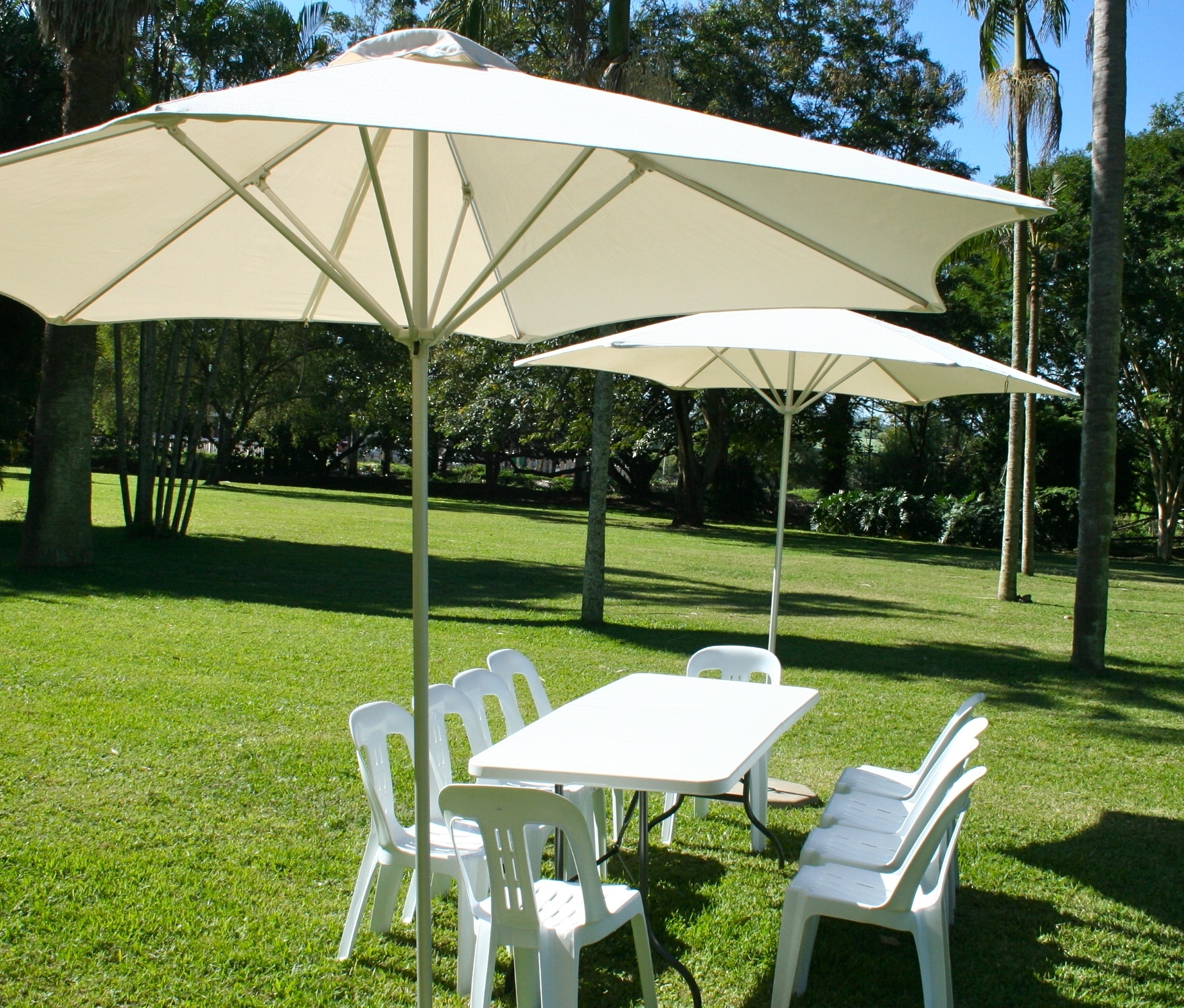 Outdoor Patio Umbrella Rental Umbrella Hire With 2018 Outdoor Patio Umbrellas (View 13 of 20)