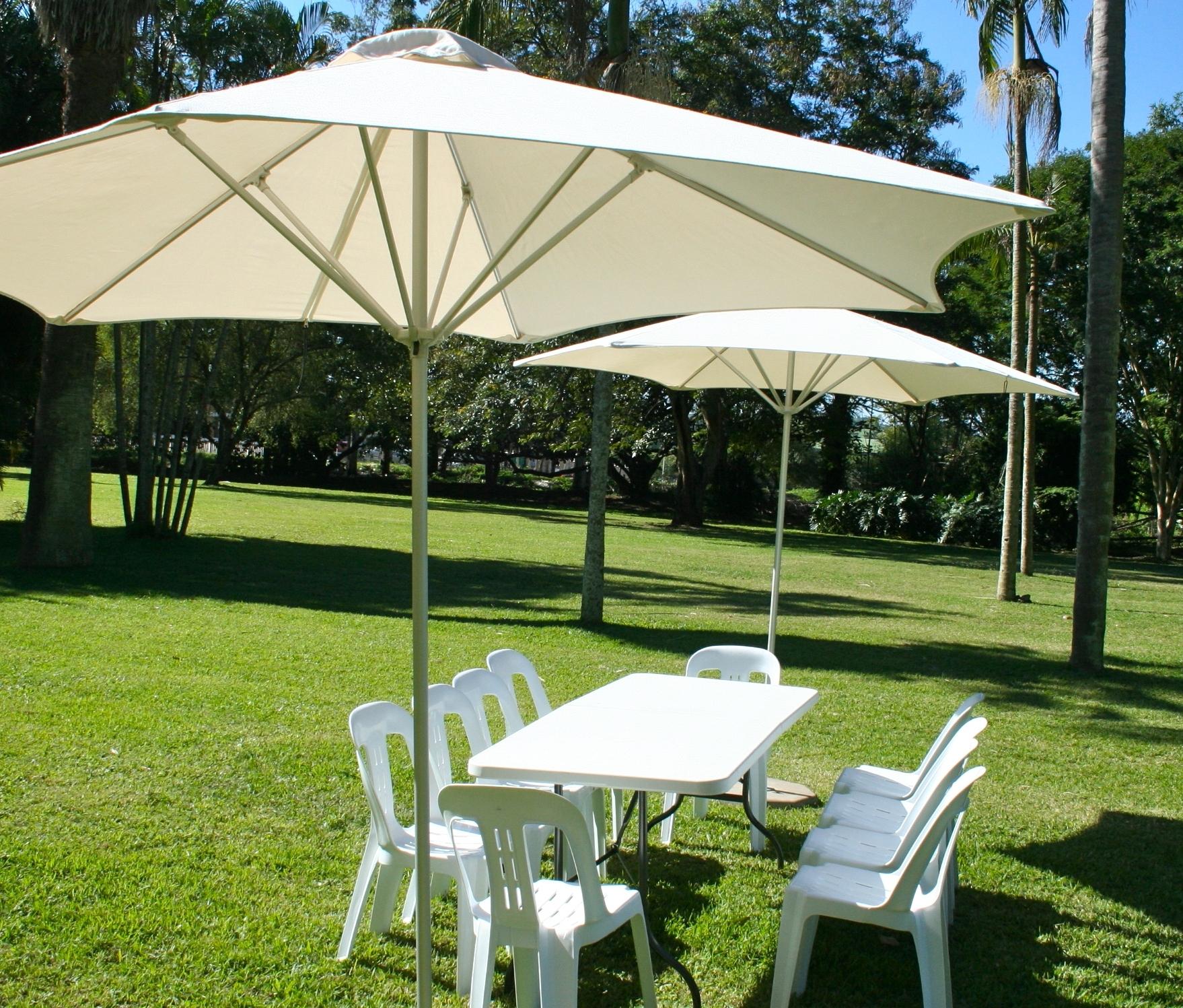 Outdoor Patio Umbrella Rental Umbrella Hire Within Best And Newest White Patio Umbrellas (Gallery 18 of 20)