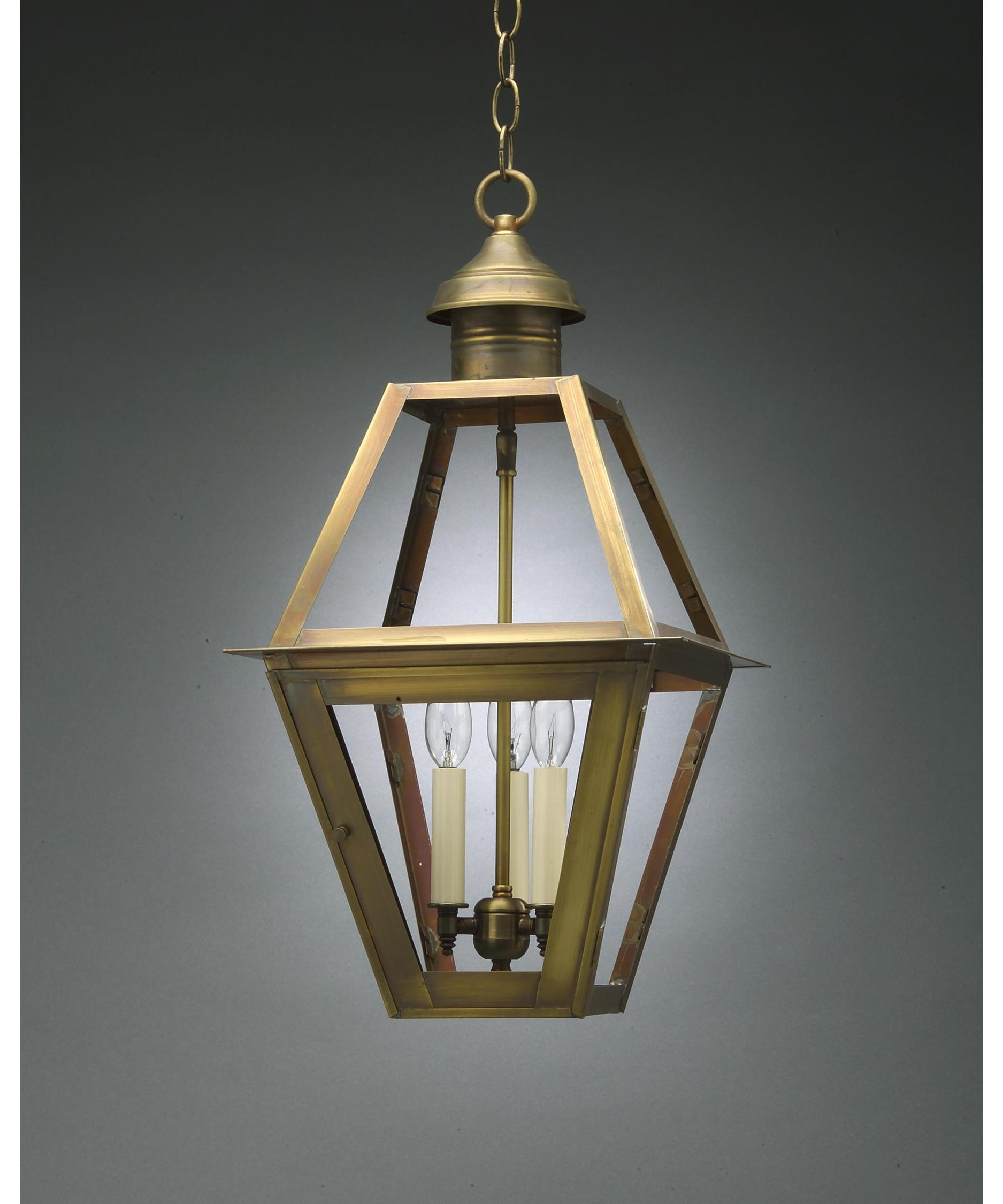 Outdoor Pendant Lanterns Within Preferred Northeast Lantern 1012 Lt3 Boston 12 Inch Wide 3 Light Outdoor (View 14 of 20)