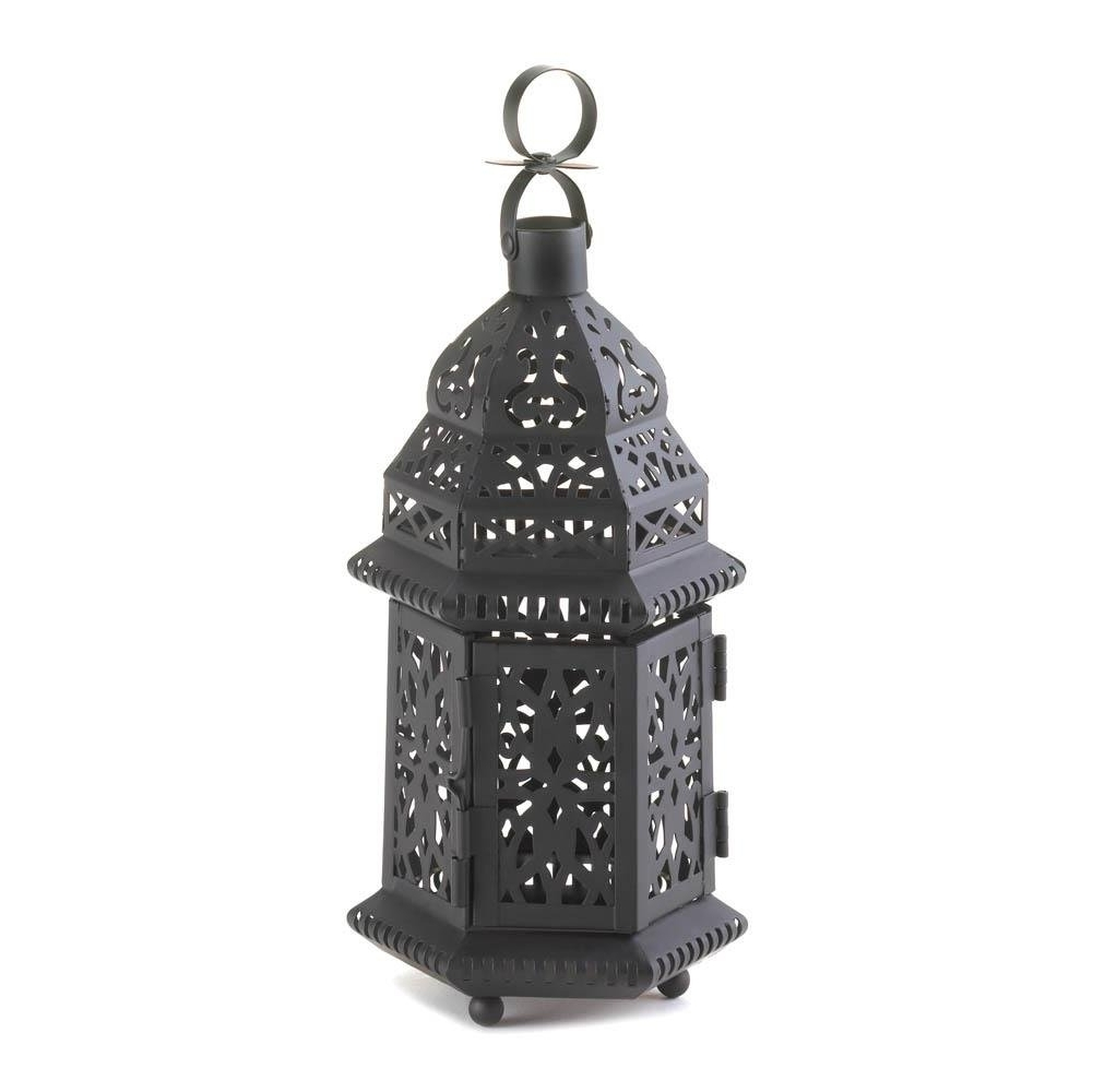 Outdoor Pillar Lanterns For Best And Newest Floor Lanterns, Moroccan Hanging Metal Decorative Patio Lantern (Gallery 15 of 20)