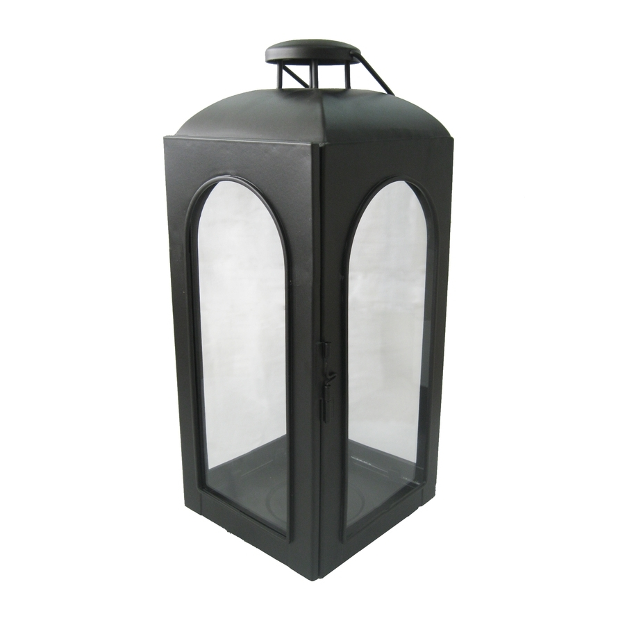 Outdoor Pillar Lanterns Throughout Recent Shop Allen + Roth 15.35 In Black Metal Pillar Candle Outdoor (Gallery 9 of 20)