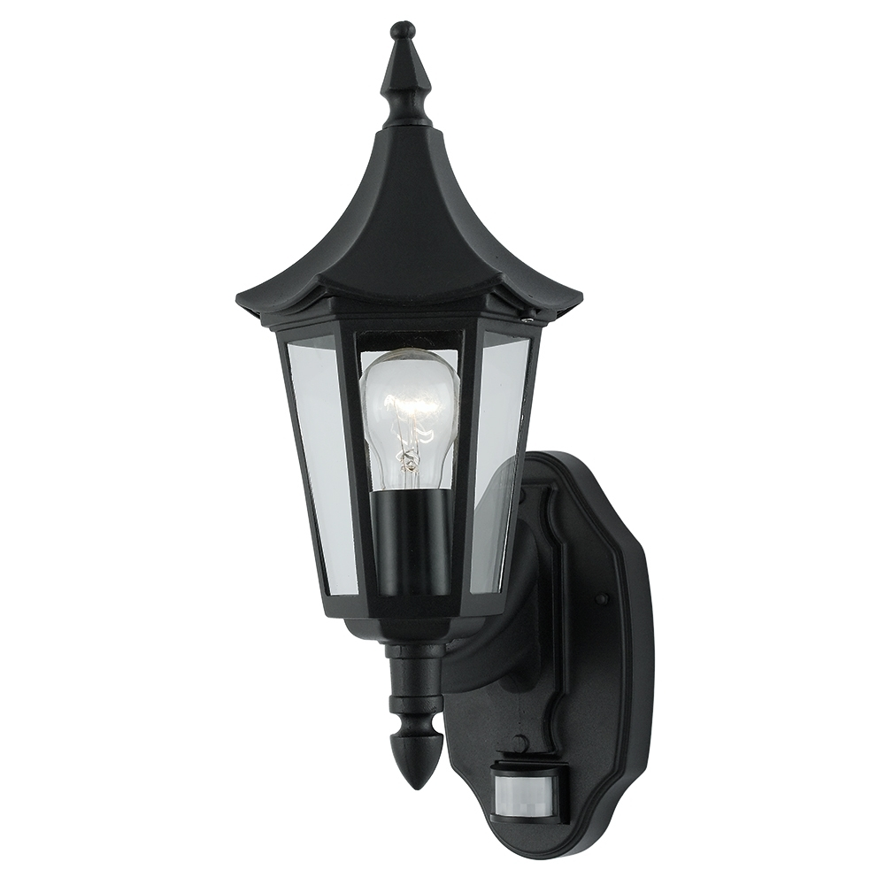 Outdoor Pir Lanterns With Regard To Famous Searchlight 14715 Bel Aire Black Pir Outdoor Lantern Wall Light From (View 14 of 20)