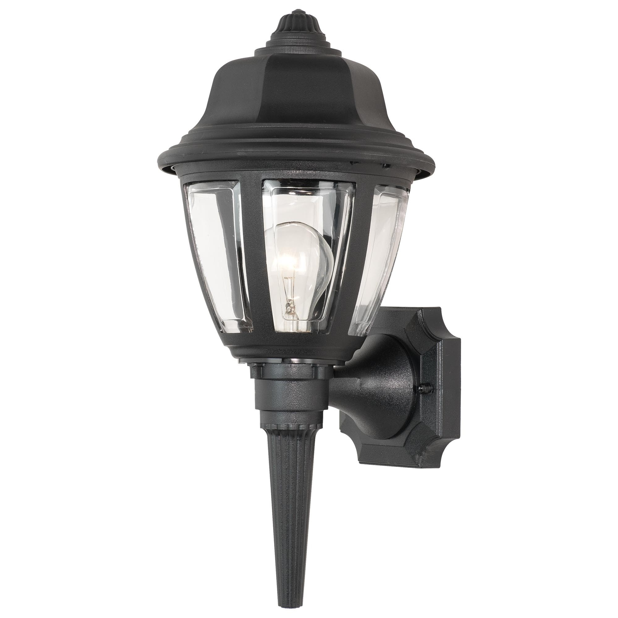 Outdoor Plastic Lanterns Pertaining To Well Known Plastic Lanterns Outdoor Lights Light Splendid Black Wall Lantern (View 2 of 20)