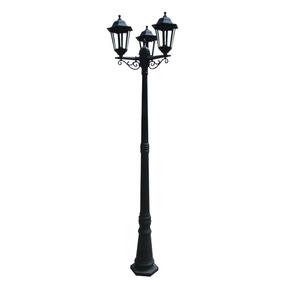 Outdoor Pole Lanterns Within Most Recently Released 230V Exterior Plastic 3 Light Pole Lantern E27 Ip (View 15 of 20)